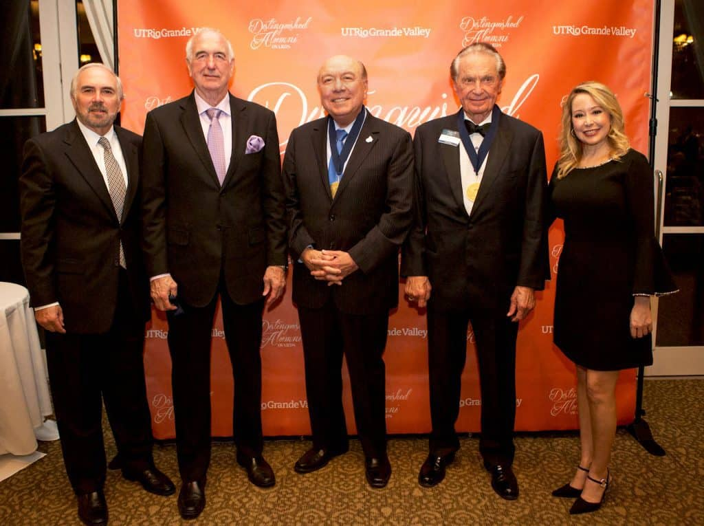 Three Alumni are honored by The University of Texas Rio Grande Valley and granted The Distinguished Alumni Award on Thursday, March 1st, 2018 in McAllen, Texas. This award recognizes high-achieving Individuals who stand out in their field and have made significant contributions to society in one way or another. UTRGV Photo by Silver Salas