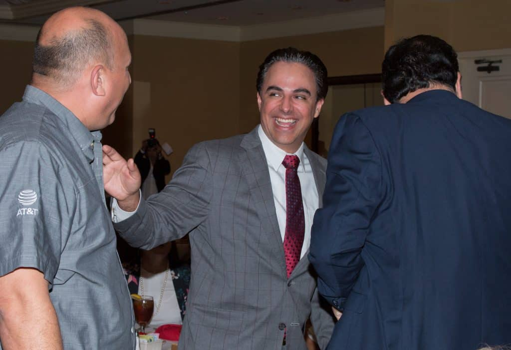 Featured: Rep. Terry Canales, D-Edinburg, helped welcome Valley residents on Thursday, August 16, 2018 to the Rio Grande Valley Hispanic Chamber of Commerce Legislative Report Card Luncheon at the Cimarron Country Club in Mission.