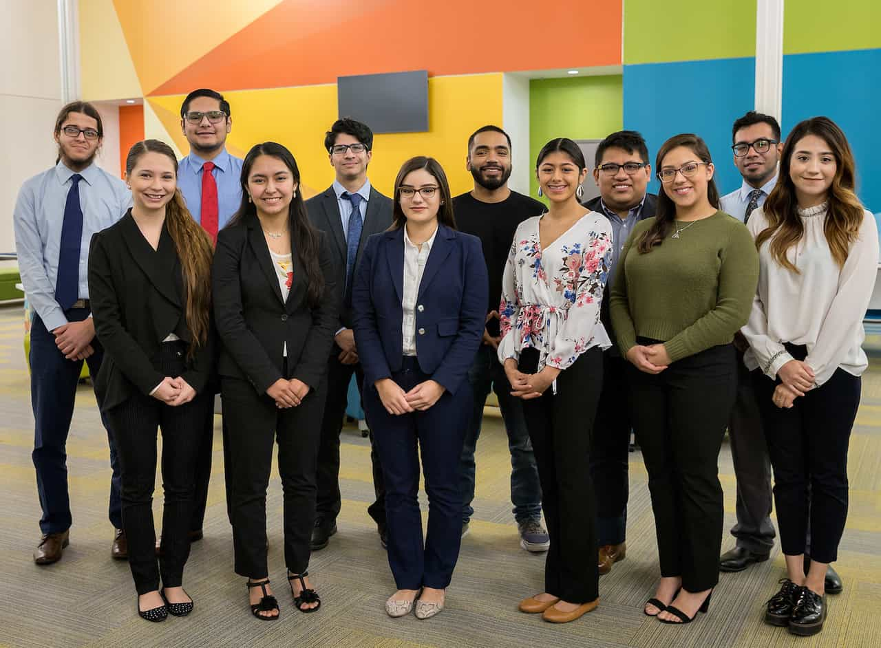 UTRGV students at orientation for The Rio Grande Valley Legislative Internship Program (VLIP) on Friday, Dec. 14, 2018 at the Center for Innovation and Commercialization in Weslaco, Texas. UTRGV Photo by Paul Chouy