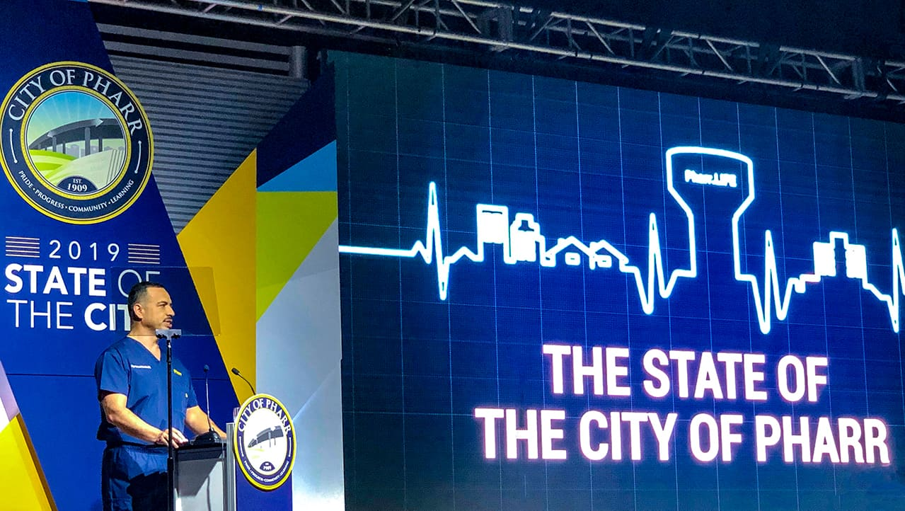 """Pharr Mayor Hernández' State of the City Address: """"Imagine coming from nothing and becoming an example of what hard work and education can get you. Imagine the possibility."""" - Titans of the Texas Legislature"""