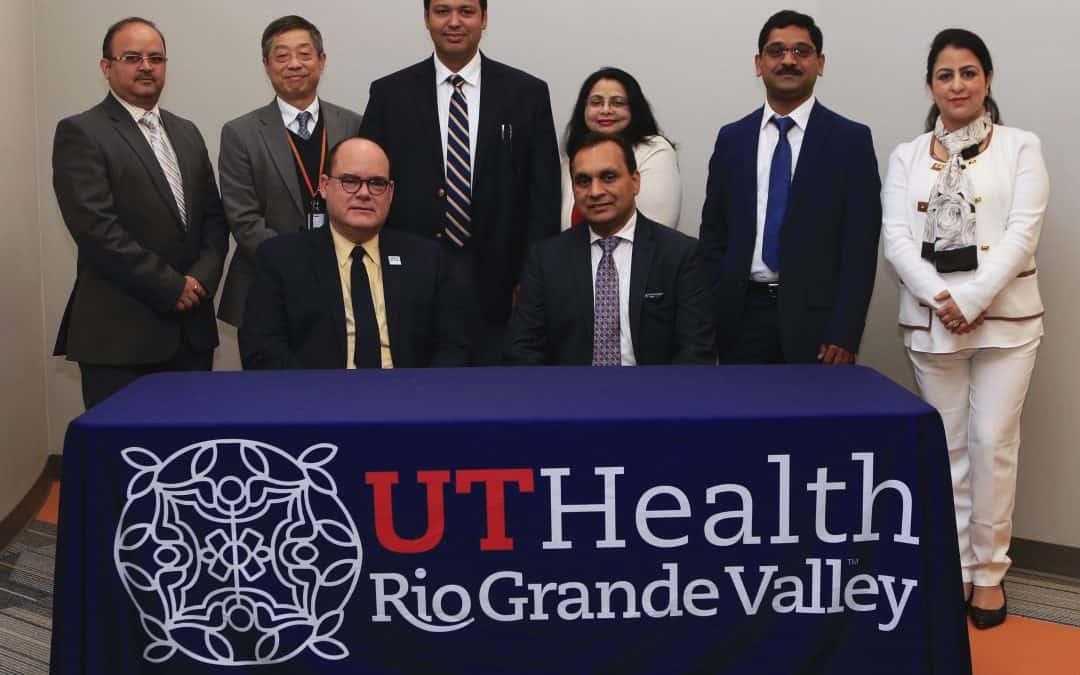 DHR Health is a key part of UTRGV School of Medicine's vision to build academic health system, says Dr. John H. Krouse, medical school dean, as cancer immunology team welcomed to Biomedical Research Building located on DHR Health South Campus