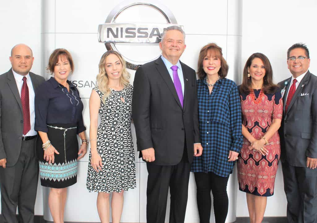 Featured, from left: Ronnie Larralde, Executive Director, Edinburg Chamber of Commerce; Marsha Green, Vice President of Marketing, Bert Ogden Auto Group; Natasha Del Barrio, MBA, Chief Executive Officer, Bert Ogden Auto Group; Robert Vackar, Owner, Bert Ogden Auto Group; Janet Vackar, Owner, Bert Ogden Auto Group; Verónica Gonzáles, Vice President for Governmental and Community Relations, the University of Texas Rio Grande Valley; and Mario Lizcano, Administrator of Corporate Affairs, DHR Health. Photograph By DEANNA GARZA