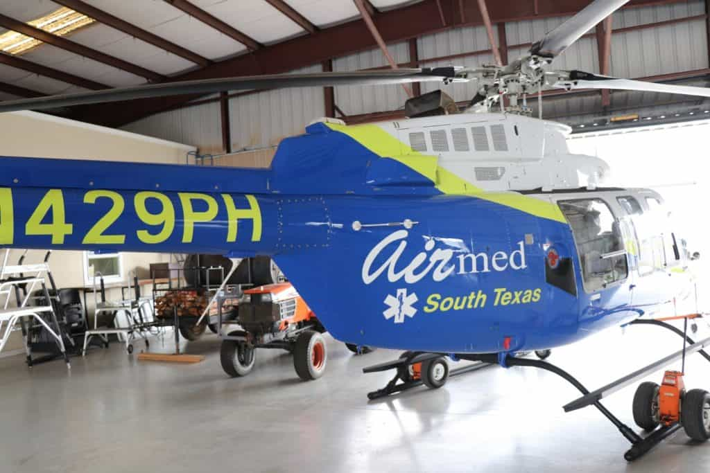 Featured: A Bell 407 rotor (helicopter) ambulance, named Air Med 1, is the newest addition to the fleet of ground and air emergency medical transportation services being provided to South Texas by Hidalgo County EMS/South Texas Air Med. A ribbon cutting ceremony and press conference for the advanced, life-saving Air Med 1 will take place on Tuesday, June 18, 2019, beginning at 10 a.m., at the South Texas International Airport at Edinburg, located at 1300 E. FM 490, which is about 12 miles from the Hidalgo County Courthouse traveling on I-69N. For more information, individuals may contact Paul M. Vazaldua, Jr., Vice President of Organizational Leadership and Government Affairs for Hidalgo County EMS/South Texas Air Med, at 956/451-6775, or log on to https://www.facebook.com/HidalgoCountyEMS/?tn-str=k*F Photograph Courtesy HIDALGO COUNTY EMS/SOUTH TEXAS AIR MED