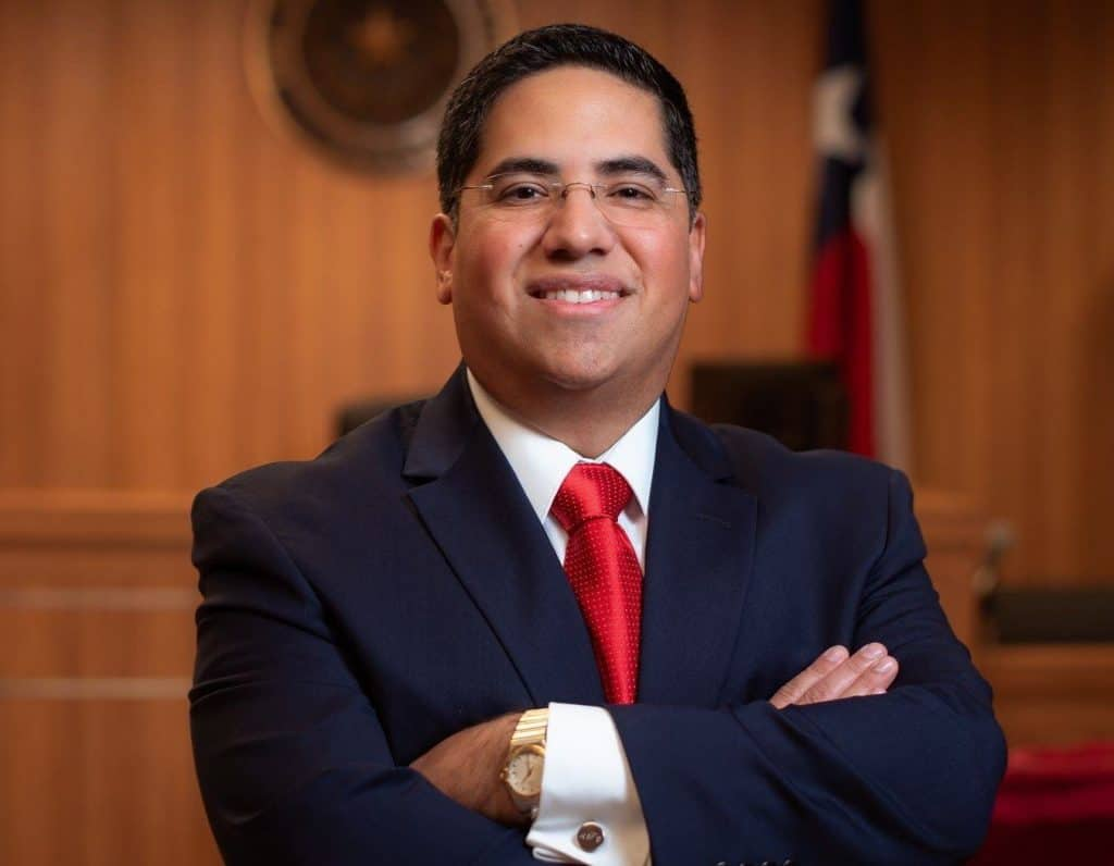 Hidalgo County 464th District Court Judge Ysmael Fonseca, who was appointed by Gov. Abbott, to seek election to that post in 2020 - Titans of the Texas Legislature