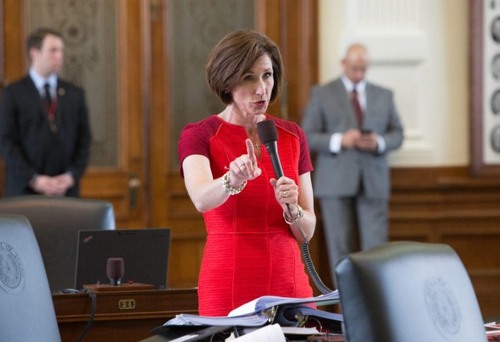 Featured: Sen. Lois W. Kolkhorst, R-Brenham, shown here on the floor of the Texas Senate Chamber during the Spring of 2019, authored Senate Bill 750, which changed the Government Code and Health and Safety Code to require the executive commissioner of Texas Health and Human Services by rule to ensure that women receiving services under the Healthy Texas Women program are referred to and provided with information on the primary health care services program. All Valley state lawmakers voted for Senate Bill 750, which was signed into law by Gov. Greg Abbott on Monday, June 10, 2019 and went into effect immediately.   Photograph By SENATE MEDIA