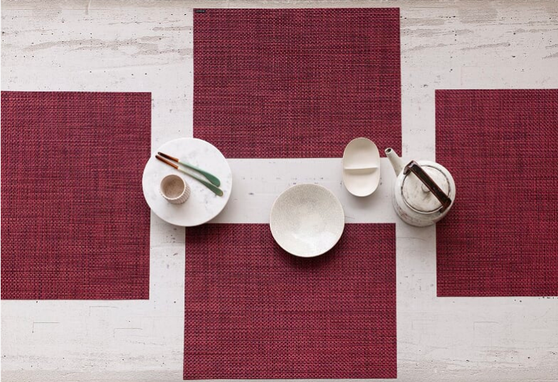 Chilewich Basketweave Placemats; courtesy Chilewich