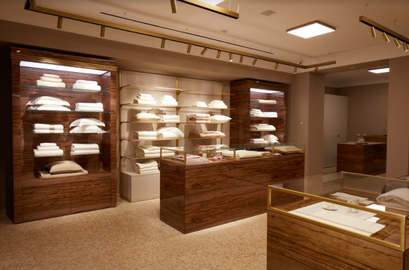 Interior of Frette's historic boutique; courtesy Frette