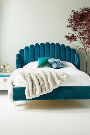 Feather Bed and Feather Dining Chairs; courtesy Anthropologie