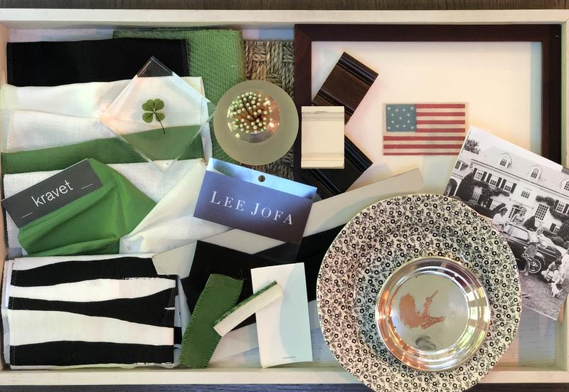 Designer Billy Ceglia's inspiration board for the Alden Parkes showhouse event; courtesy Billy Ceglia