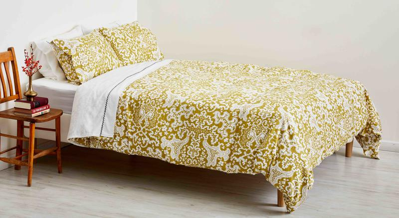 Duvet, Gold Chartouche, by Plover Organic; courtesy Plover Organic