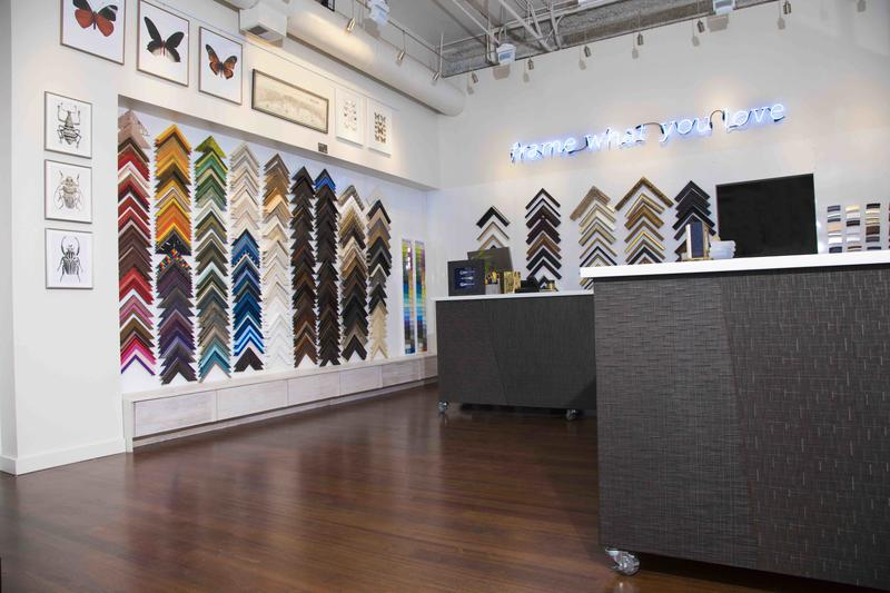 Artists Frame Service's latest Chicago showroom. Photo courtesy Artists Frame Service.