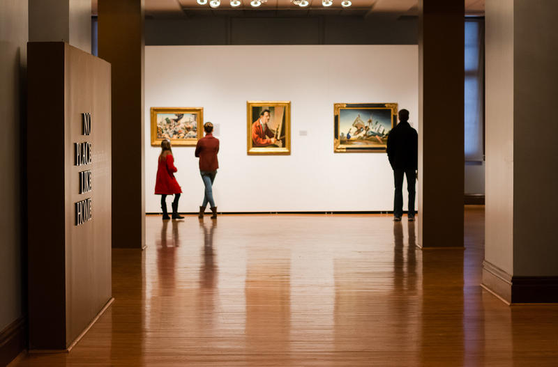 No place like home: Art gallery of American regionalism paintings; photo by Mshipp