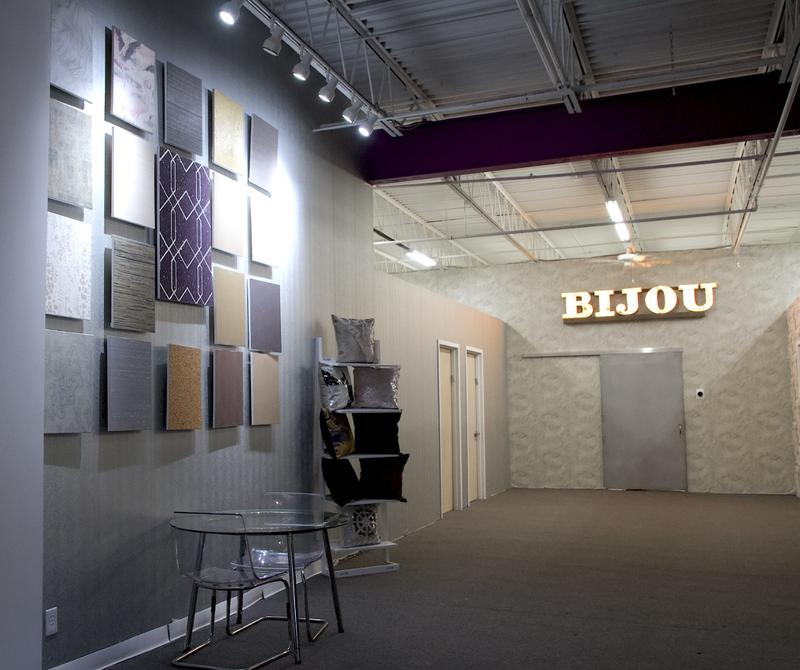 Bijou Coverings just opened a new showroom on Long Island, in New York; photo courtesy Bijou Coverings
