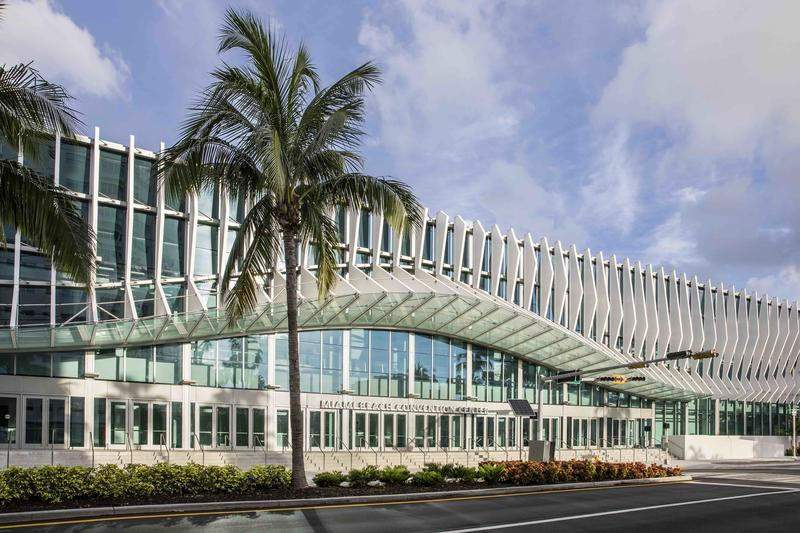 The new Miami Beach Convention Center.