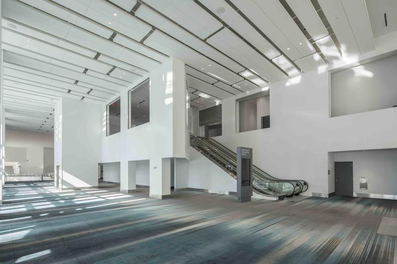 The lobby of the new MBCC.