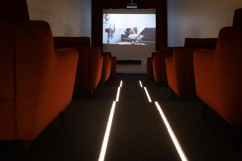 Movie Theater in Burrow House.