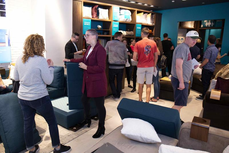 Lovesac's first Manhattan showroom.
