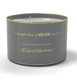 """The Serial Entertainer"" Quotables Ambered Cognac Triple Wick Candle"