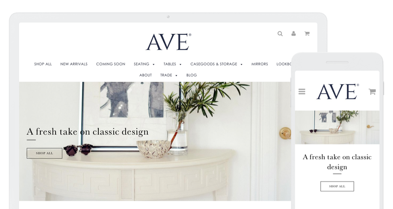 AVE Home's new website