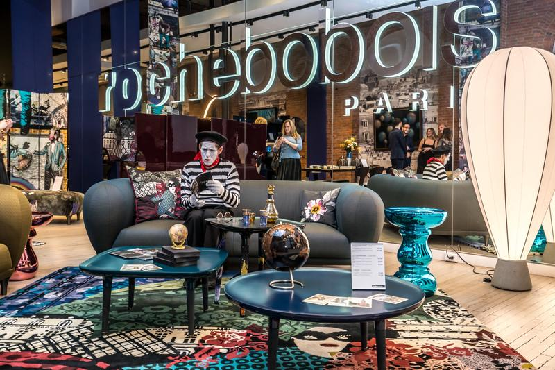 Roche Bobois's showcase at Design Philadelphia's sensory design–themed bar crawl