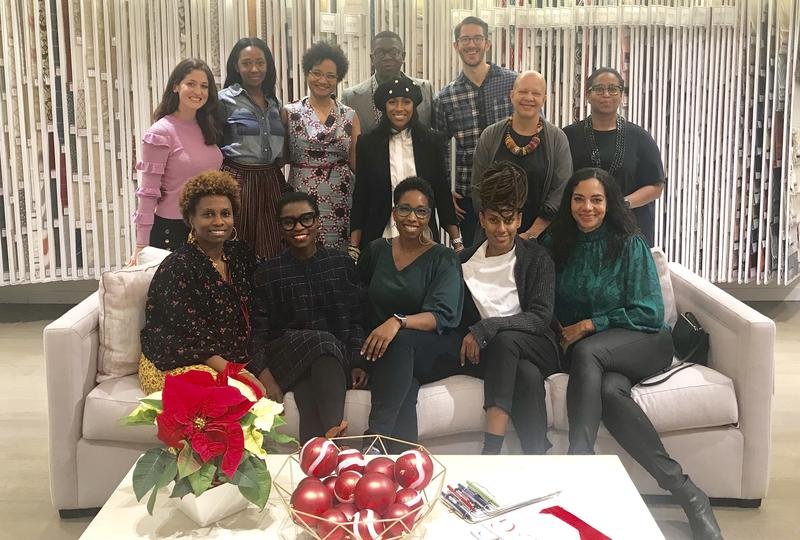 Jodi Finer of Fabricut, Inc. with founding BADG designers Keita Turner, Courtney McCleod, Rayman Boozer, Kevan Miller, Kesha Franklin, Sheila Bridges, Joy Moyler, Danielle Colding, Anishka Clarke, Malene Barnett, Nina Barnieh-Blair and Lisa Hunt