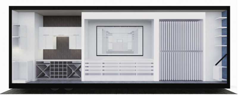 An interior rendering of the company's new mobile showroom