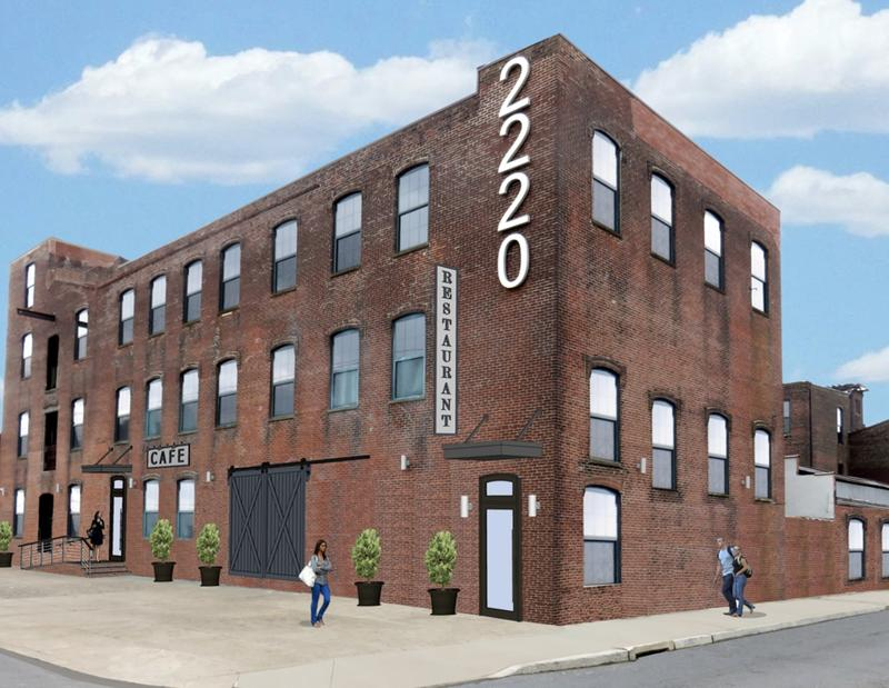 A rendering of the exterior of Showrooms 2220