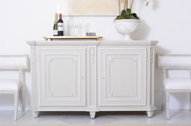 A cabinet with Jolie Home paint