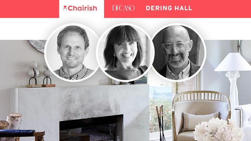 Gregg and Anna Brockway of Chairish (left), and Peter Sallick of Dering Hall