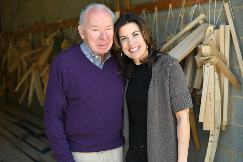 Laura Gregory with her father, Pete Pulliam, who founded O. Henry House in 1988