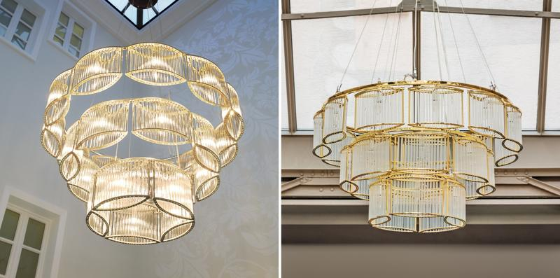 Left (original): Licht im Raum Dinnebier GmbH, Düsseldorf, Germany; Design: Daniel Klages | Right (plagiarism): Zhongshan Henglan Marsden Lighting Co. Ltd., Guangdong, PR China