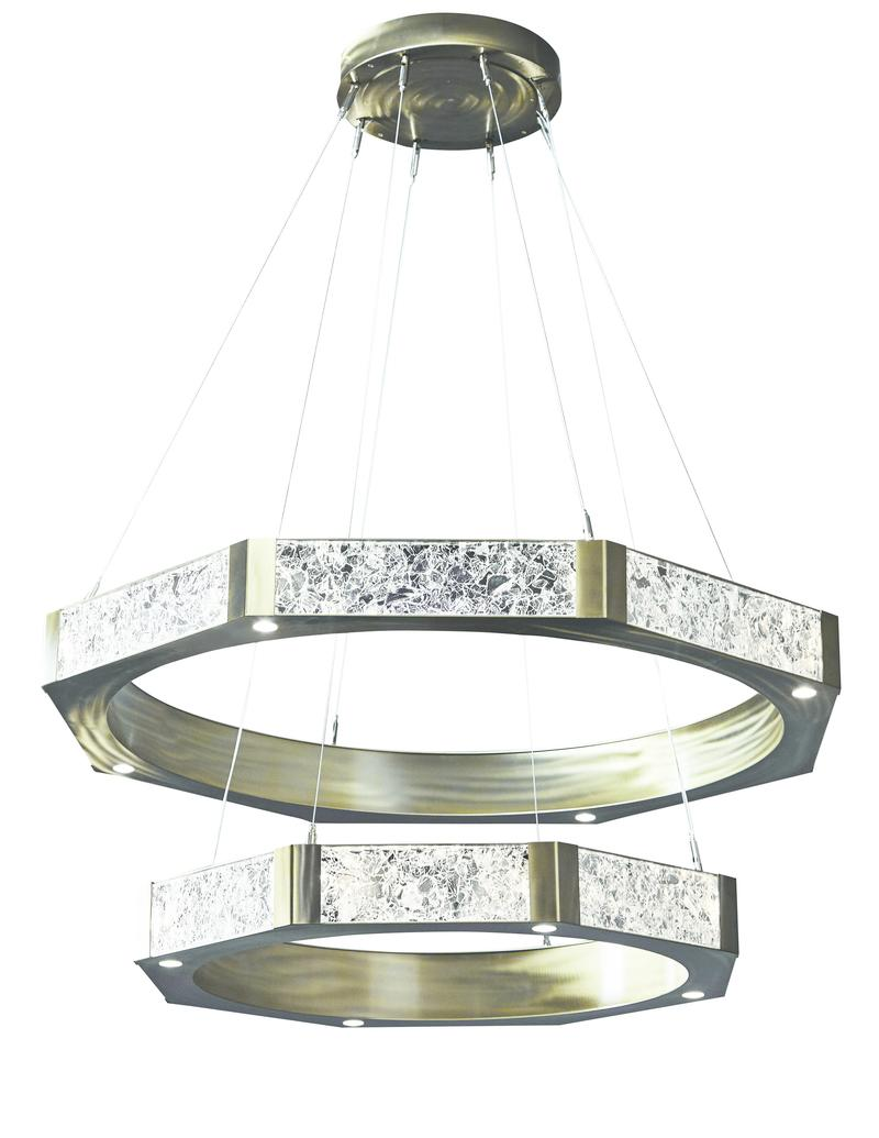 Glacier Two-Tier Ring chandelier by Hammerton