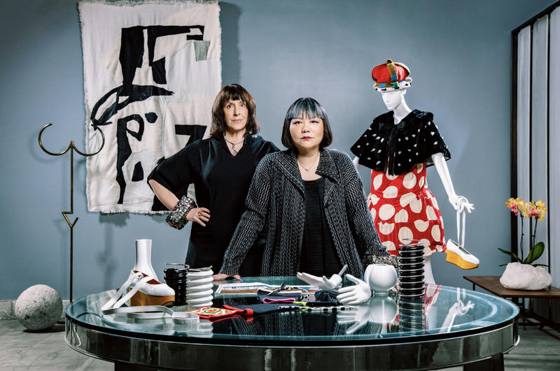 Costume designer Lynn Pickwell and Bianca Chen