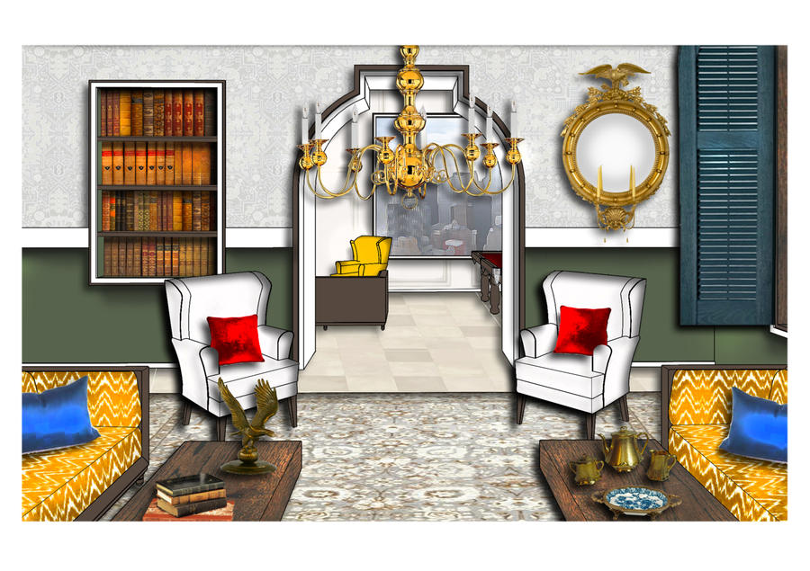 Francesca Cauce's entry for Kravet's Design of Distinction at FSU, one of her very first renderings.