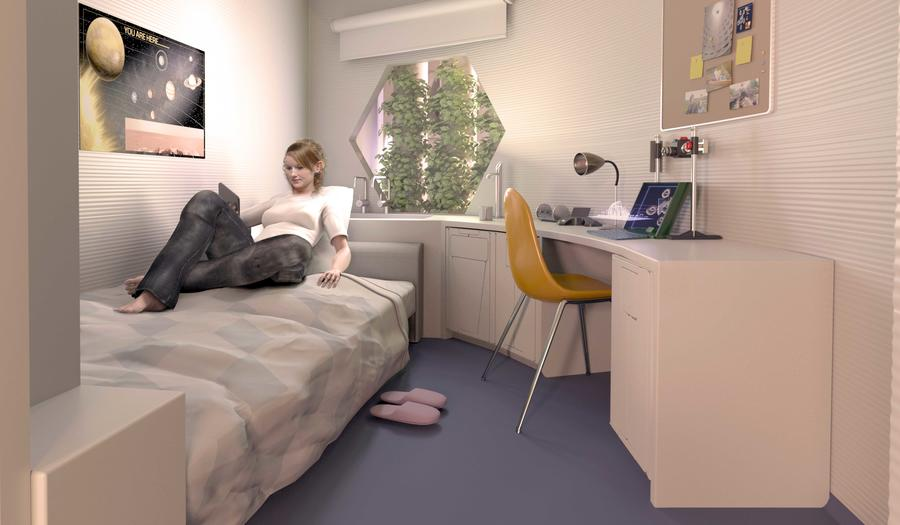 A bedroom in the X-House