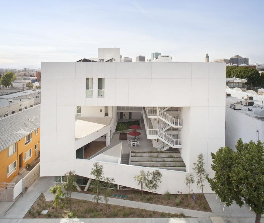 The Six, built and operated by Skid Row Housing Trust. Designed by Brooks+Scarpa Architects.