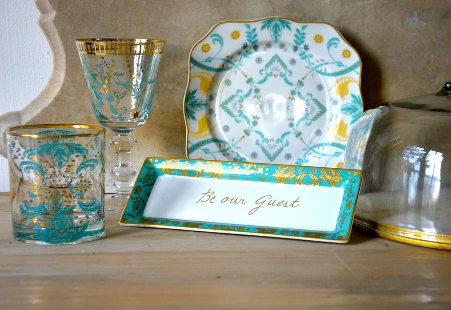 Patina Vie's Beauty and the Beast tableware