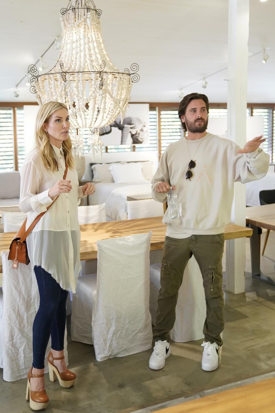 "Willa Ford and Scott Disick on the set of ""Flip It Like Disick"""