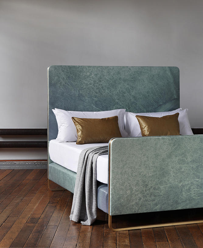 Savoir's newly launched Ocean bed by Bill Amberg.