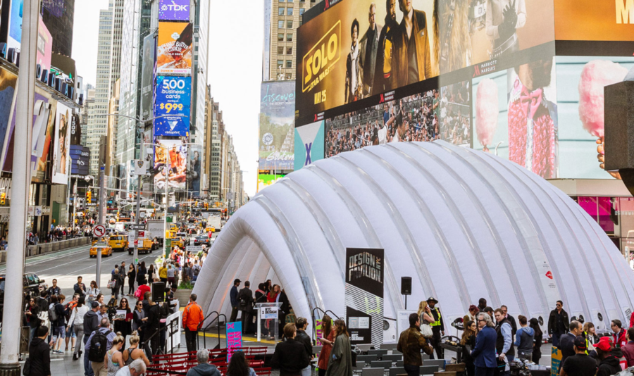 The Design Pavilion in Times Square during NYCxDesign last year