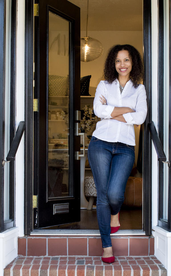 The first job was for free. Now this designer has her own shop