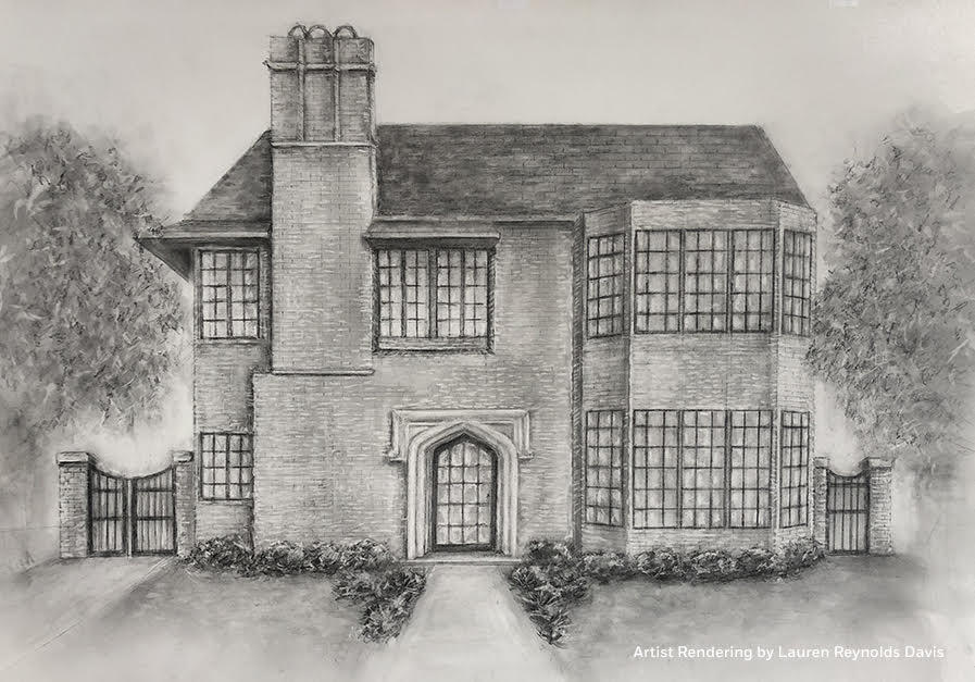 A rendering of the exterior of the Milieu showhouse