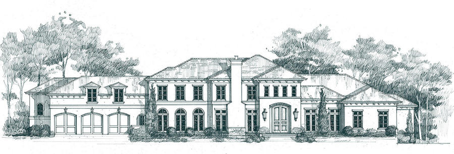 A rendering of the Atlanta Homes & Lifestyles Southeastern Designer Showhouse & Gardens