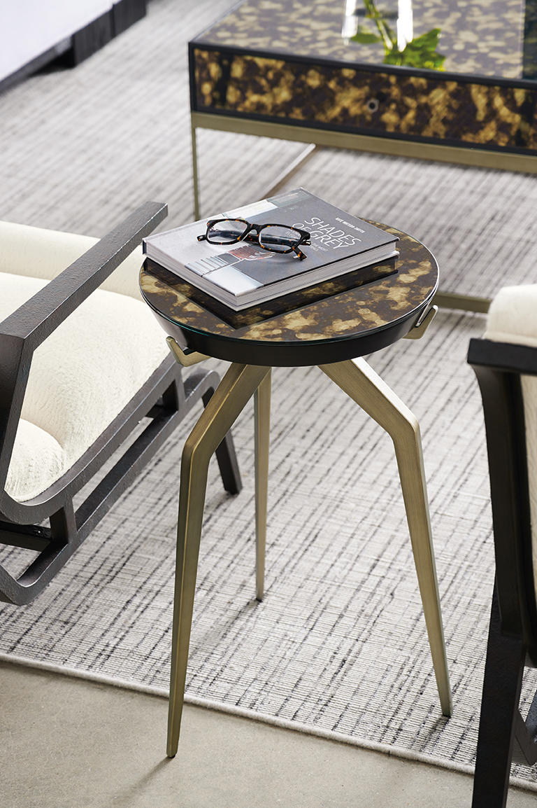 Caracole's Remix Mirror Top Accent Table