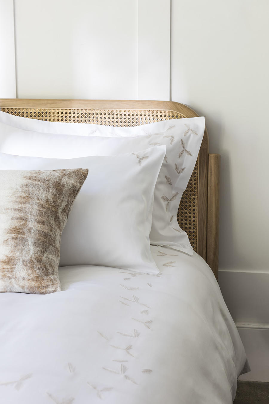 Pillows and bedding from Baea's debut line