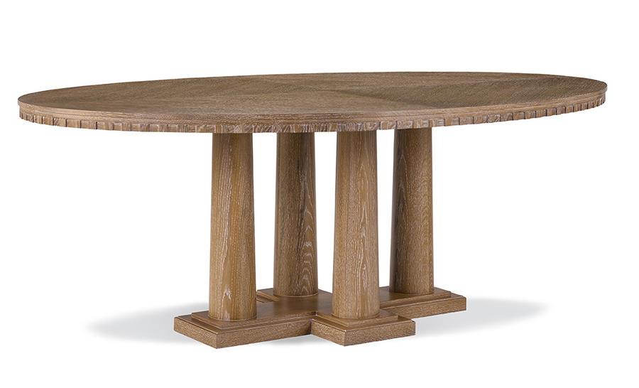 The McClintock Column Dining Table from Robert A.M. Stern for Ferrell Mittman