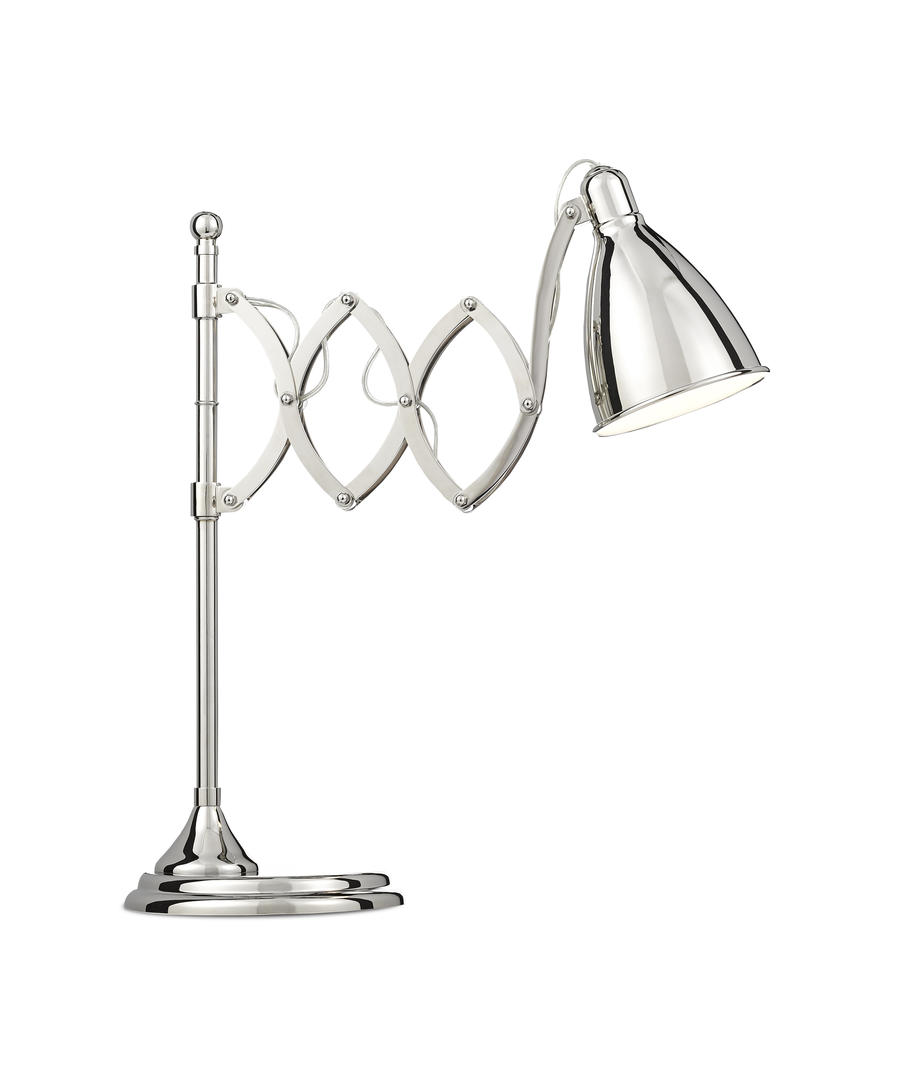 The Reeves desk lamp from Barry Goralnick for Currey & Company