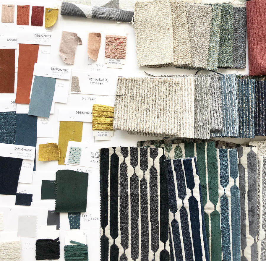 Samples from the new West Elm and Designtex collaboration