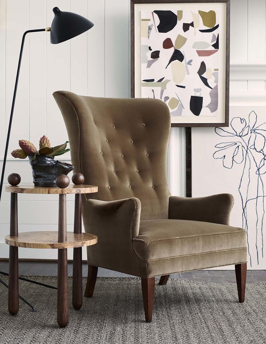 The Bird Wing Chair from Hable for Hickory Chair