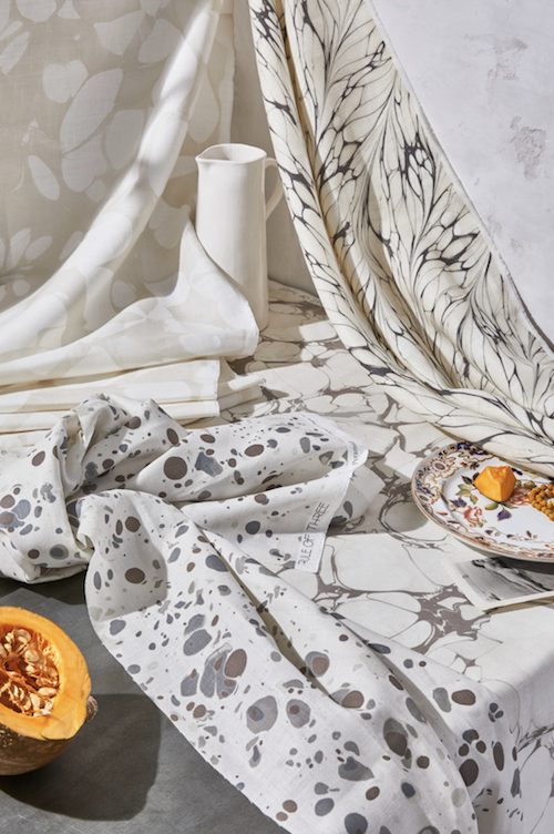 We Are Obsessed with Rule Of Three Studio's New Marbled Digitally Prints